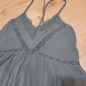 American Eagle Outfitters Tops - American eagle lace blue green criss cross boho